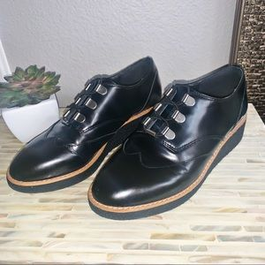 Rebecca Minkoff Black Platform Loafers 7